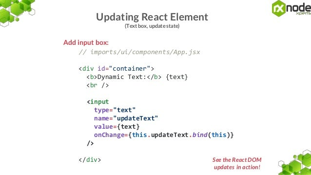 Using react with meteor