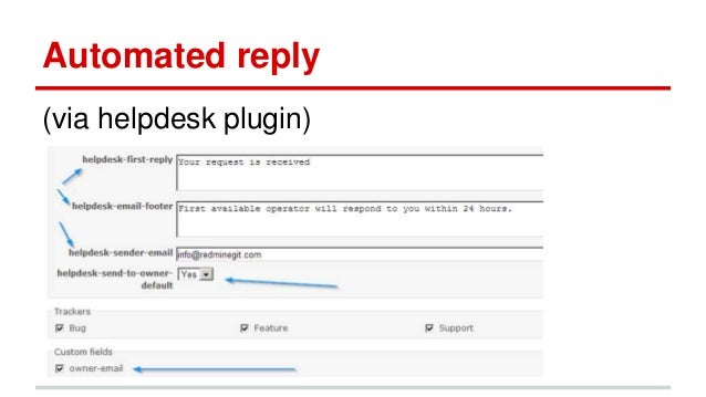 Using redmine as a sla ticketing system, helpdesk or service