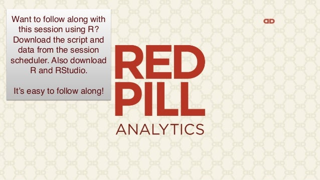 Want to follow along with this session using R? Download the script and data from the session scheduler. Also download R a...