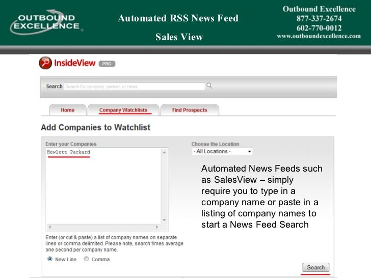 Using Rss Feeds To Replace The Need For Cold Calling