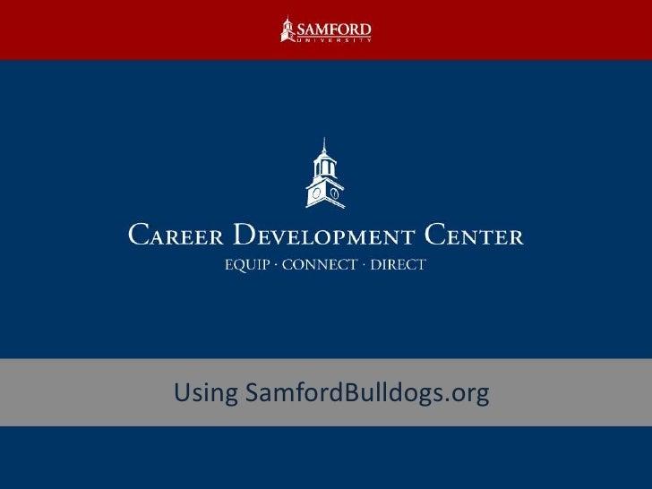 Using SamfordBulldogs.org<br />
