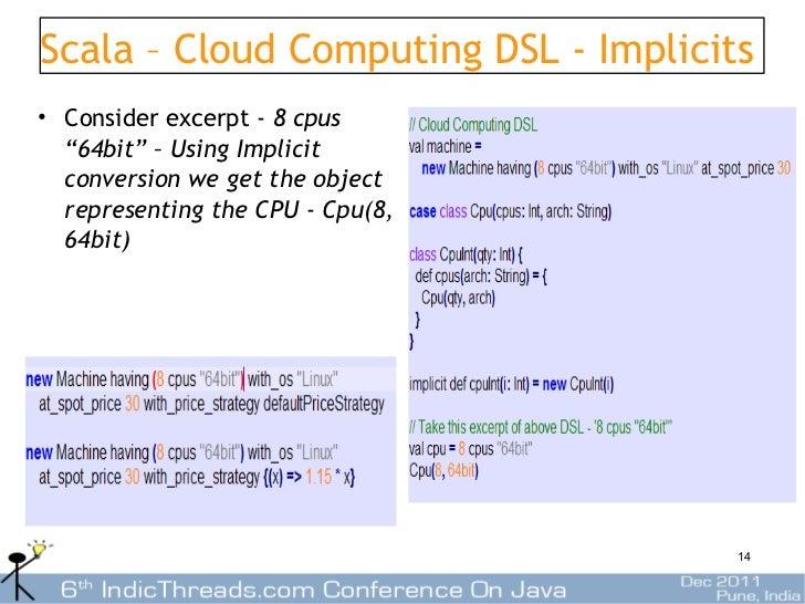 Using Scala for building DSLs