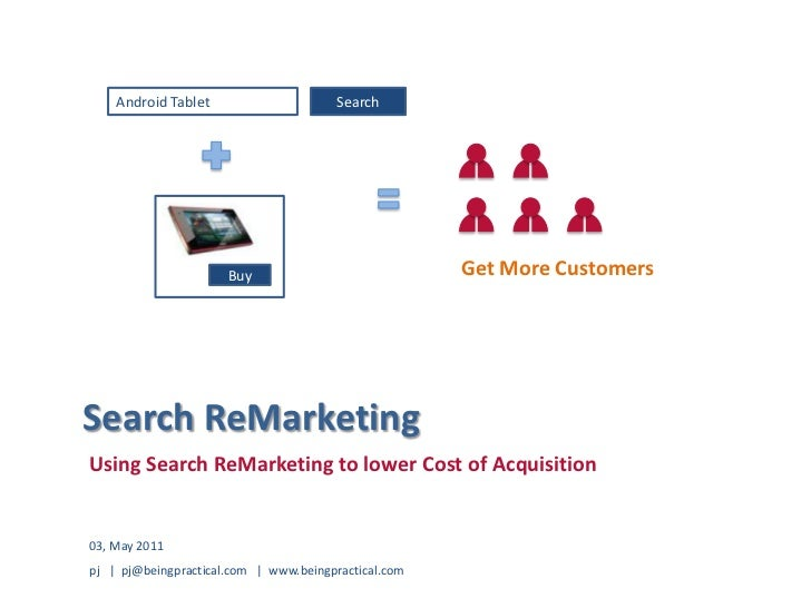Android Tablet<br />Search<br />Get More Customers<br />Buy<br />Search ReMarketing<br />Using SearchReMarketing to lower ...
