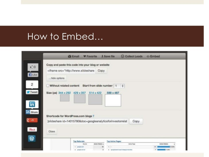 How to Embed…