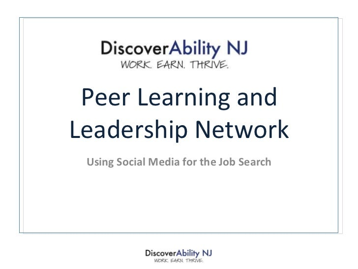 Peer Learning and Leadership Network Using Social Media for the Job Search