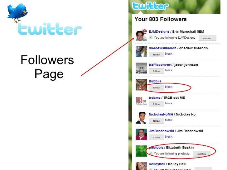 Followers  Page