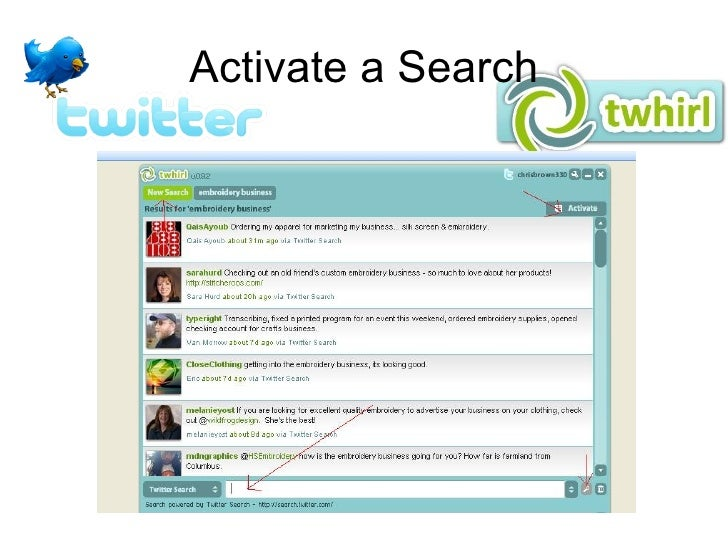 Activate a Search