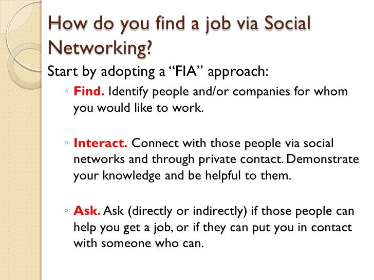 social networking tools for the job search
