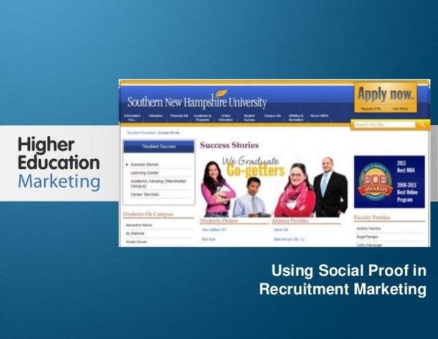 Using Social Proof in Recruitment Marketing Slide 1 Using Social Proof in Recruitment Marketing