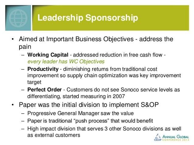 S&OP Ongoing Success Factors  • Ongoing routine S&OP meetings… set calendar  • Structured meeting agendas  • Establishing ...