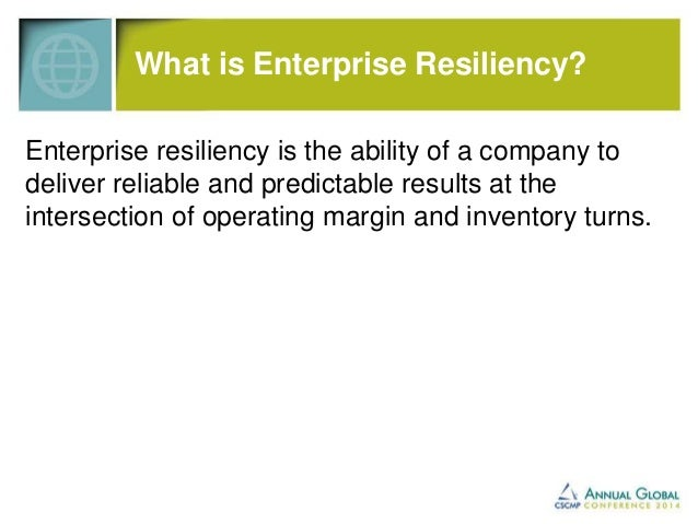 What is Enterprise Resiliency?  Enterprise resiliency is the ability of a company to  deliver reliable and predictable res...