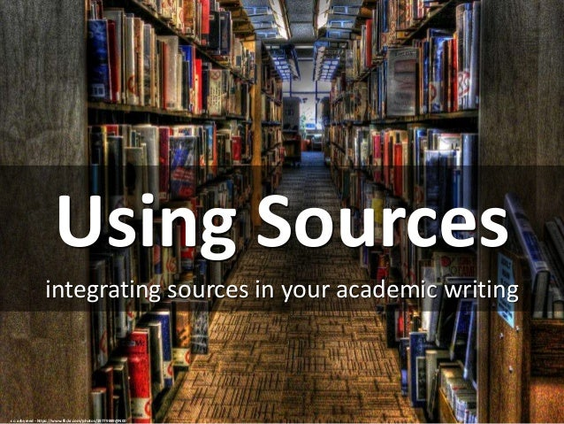 acknowledging sources in academic writing