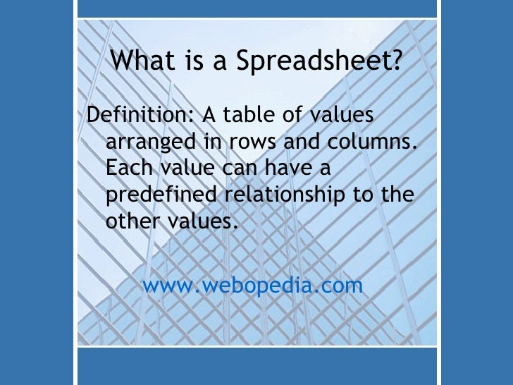 2 What Is A Spreadsheet