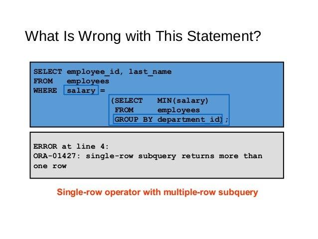 Using subqueries to solve queries