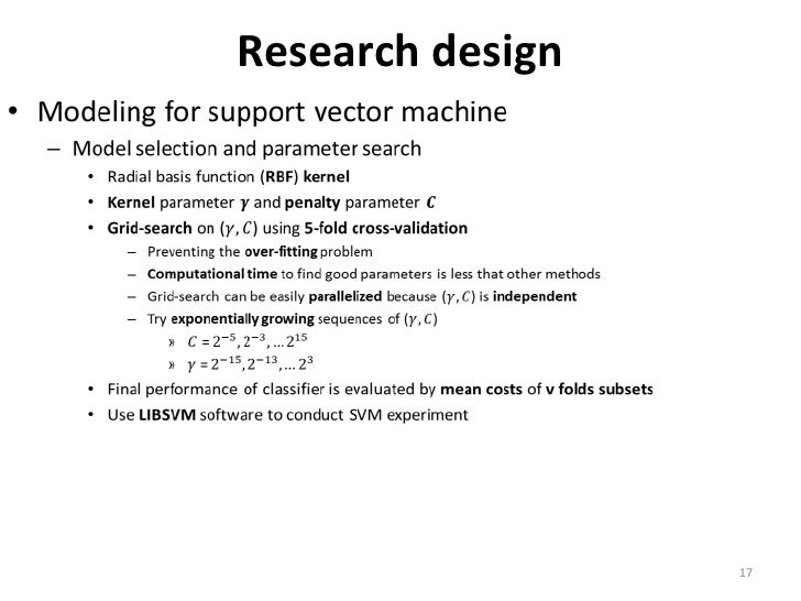 support vector machine research papers In this paper, we demonstrate a small but consistent advantage of  papers use  the softmax activation function (also known  support vector machine is an  widely used alternative  learning journal of machine learning research - pro .
