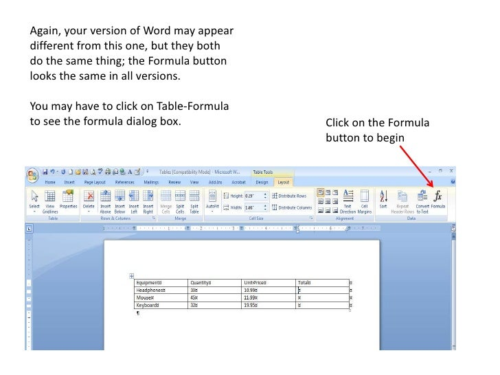 how to add column in table in word