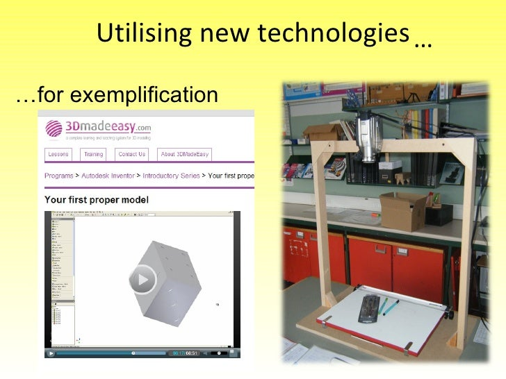 Utilising new technologies … for exemplification …