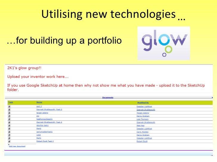 Utilising new technologies … for building up a portfolio …