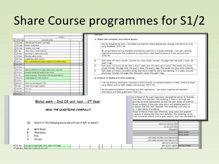 Share Course programmes for S1/2