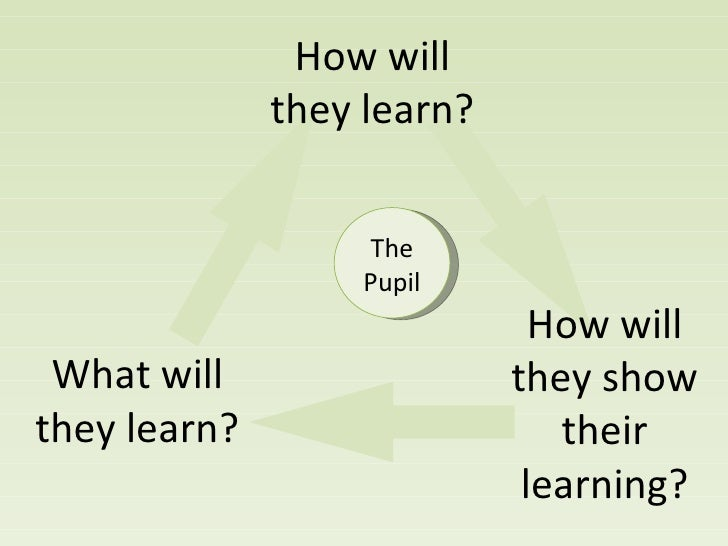 What will they learn? How will they learn? How will they show their learning? The Pupil