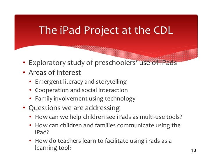 an argument in favor of using an ipad as tool for learning The ipad is a great toolbox that teachers and students can use to improve the classroom for example, i'm sure there is an app somewhere that allows teachers to design quizzes or tests that can be .