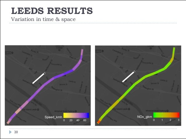 LEEDS RESULTS Variation in time & space 21 FIGURE | Autumn term-time (first half) 12:00 Q 5B> Direction South Bound Passen...