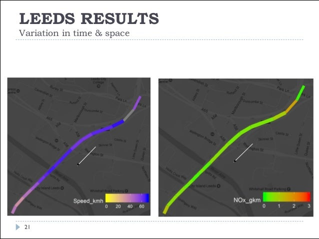 LEEDS RESULTS Variation in time & space 22 FIGURE | Autumn term-time (first half) 12:00 Q 5B> Direction North Bound Passen...