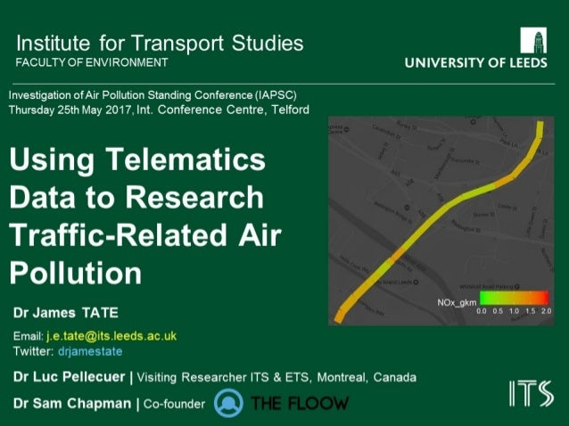 Using telematics data to research traffic related air pollution