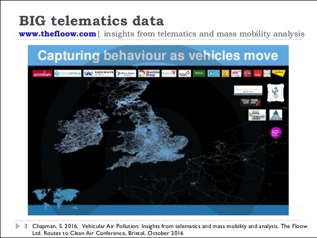 BENEFITS BIG telematics data 4 Emission assessments account for local, real- driving conditions: • Network-wide: No bounda...