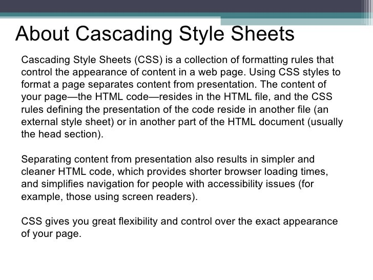 Separating presentation from content using css cascading for Beauty table style css