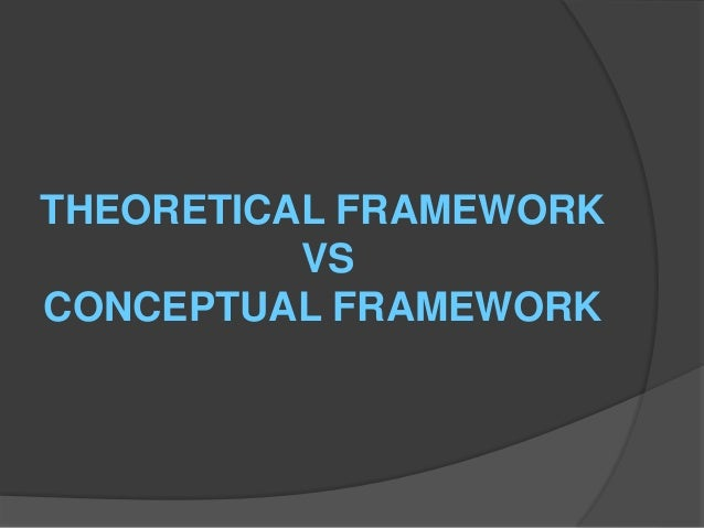 conceptual framework vs theoretical framework This chapter critically reviews the main theoretical issues which have been influential in the practice and the central concepts which developed.