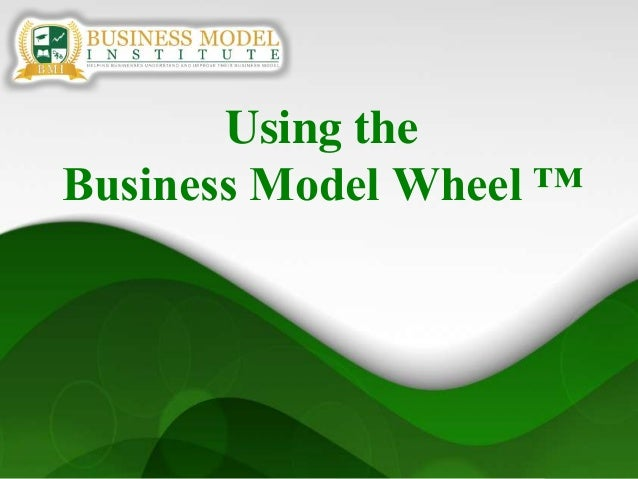 1Using theBusiness Model Wheel ™