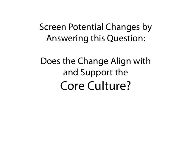 how to drive culture change in an organization
