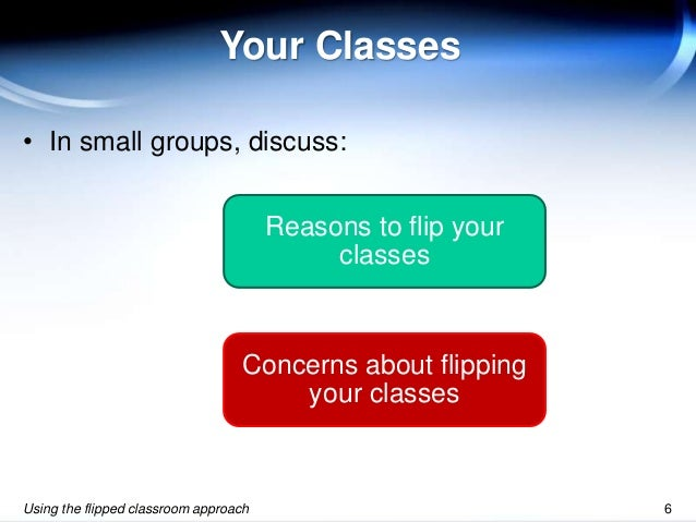 Innovative Classroom Approach : Using the flipped classroom approach