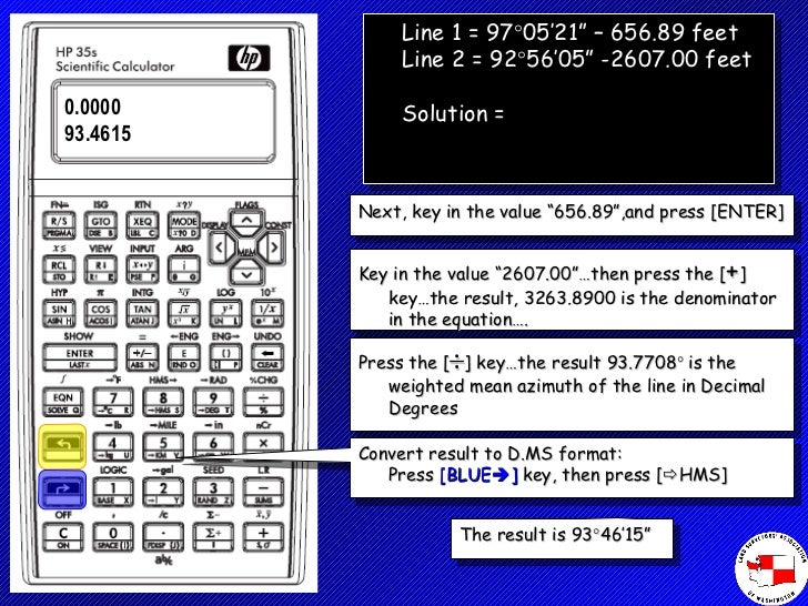 Using the hp35s Calculator
