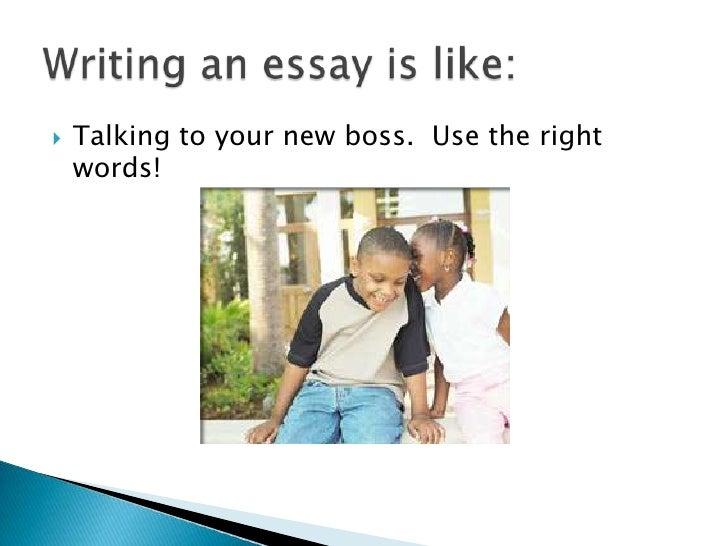 Making a good essay