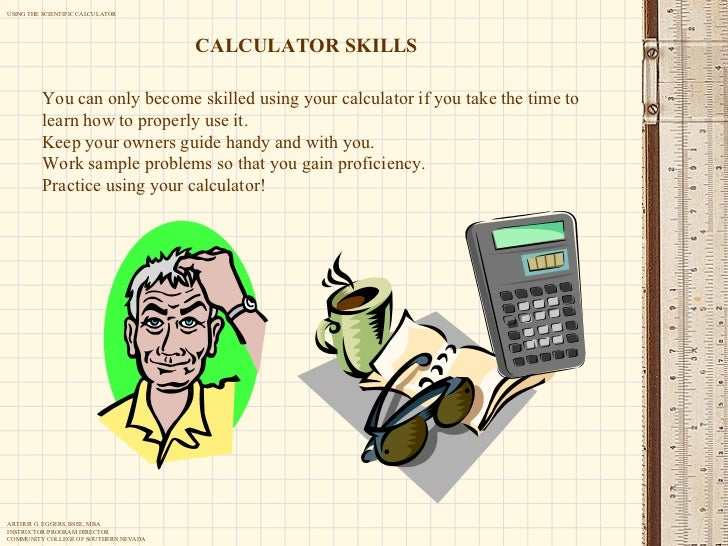 Using the scientific calculator