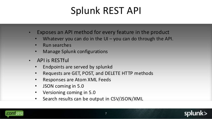 Using the Splunk Java SDK