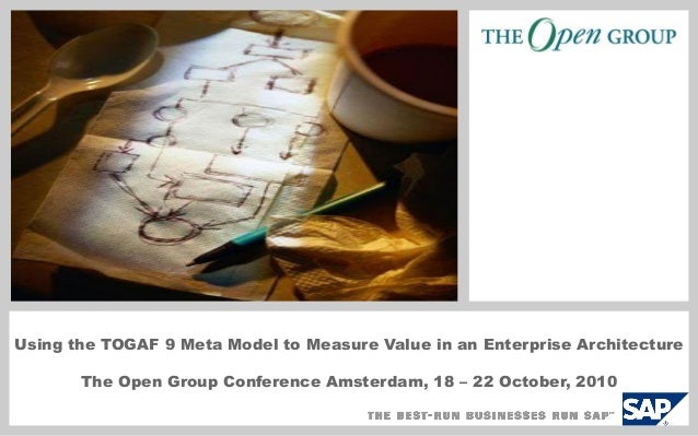 Using the TOGAF 9 Meta Model to Measure Value in an Enterprise Architecture The Open Group Conference Amsterdam, 18 – 22 O...