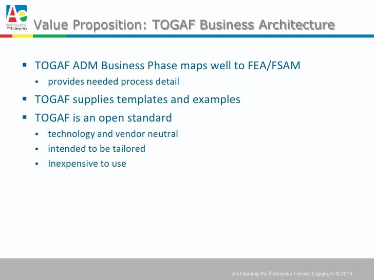 Using togaf in government enterprise architecture to for Togaf definition
