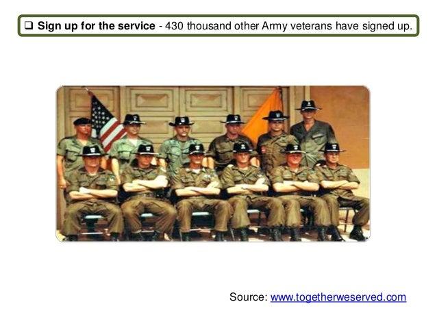 Locate military friends