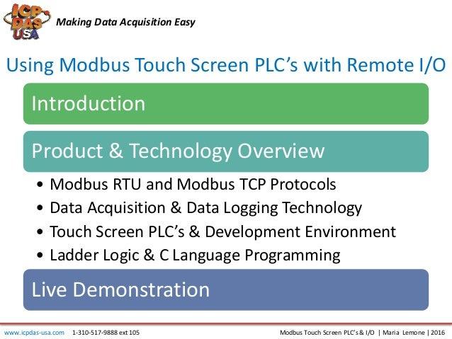 Using Touchscreen PLC