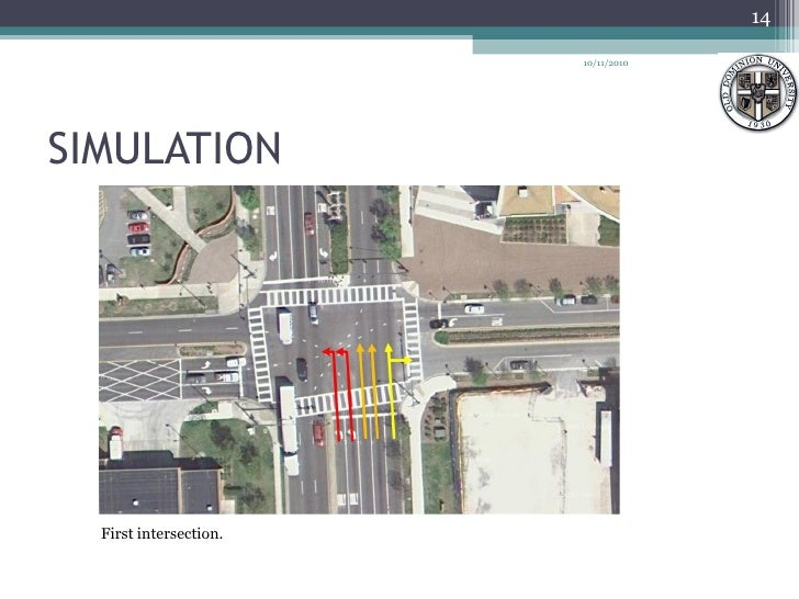 SIMULATION  First intersection.  10/11/2010