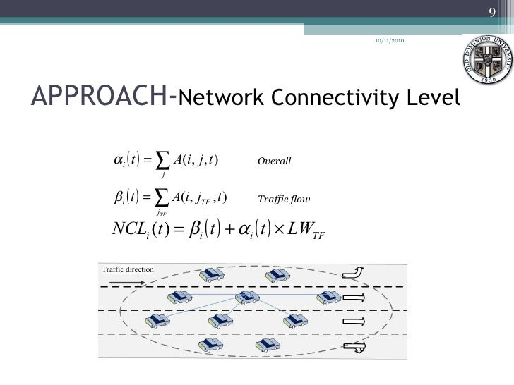 APPROACH- Network Connectivity Level 10/11/2010 Overall Traffic flow