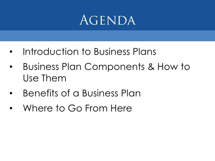 Four components to include in your business plan