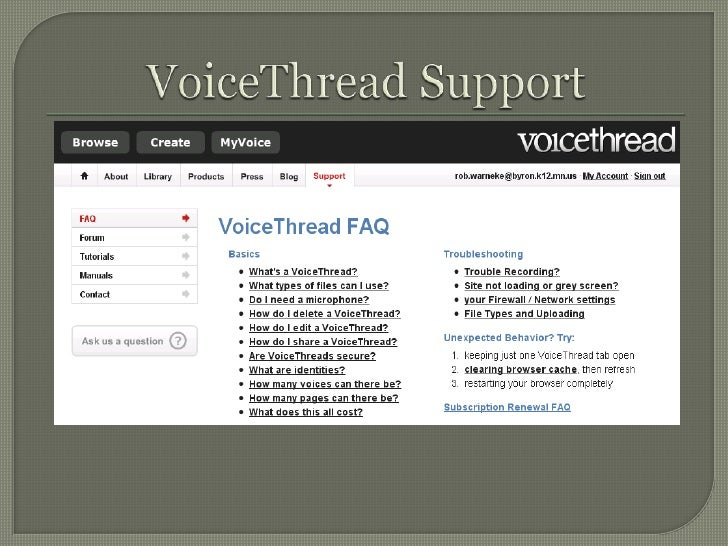 VoiceThread Support<br />