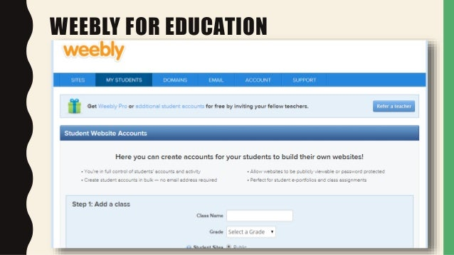 Using Weebly in Adult Education