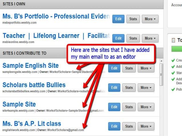 how to change text on weebly