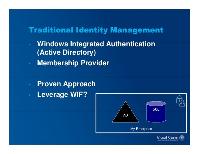 Using Windows Azure for Solving Identity Management