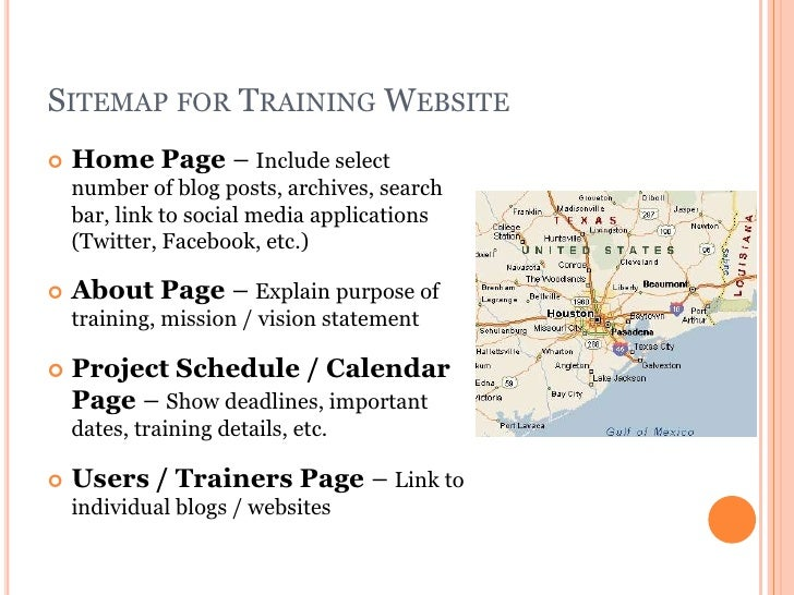 7 sitemap for training website home page